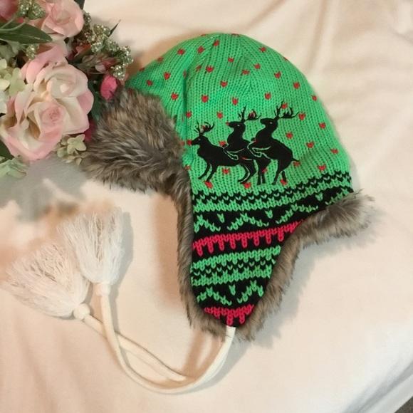 3  24 Naughty reindeer winter hat. 51e7f2cb715